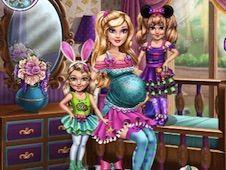 Jocuri cu barbie cu bebelusi gemeni