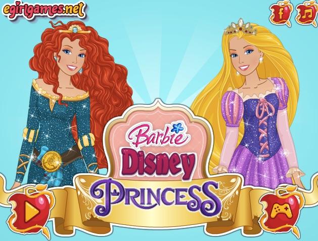 Jocuri Barbie Printesa Disney De Coafat Si Imbracat