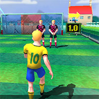 Jocuri cu fotbal 3d de suturi pe poarta cu tinta