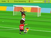 Jocuri cu fotbal atacantul suturi la poarta