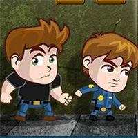 Jocuri cu prietenii politisti in misune