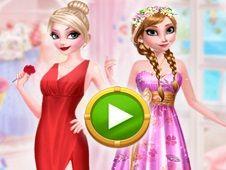 Jocuri cu stilul trandafirilor cu printesele frozen